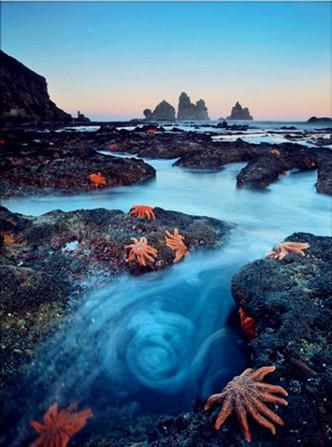新西兰,南岛上的海星…… 眩晕地是河流还是一缕蓝色轻烟?